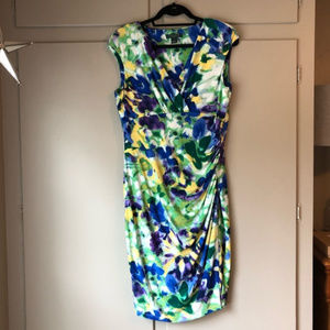 Lauren Ralph Lauren Floral Faux Wrap Dress
